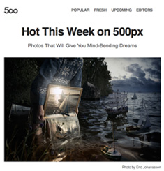 500px Newsletter
