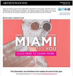 Artist Wanted Newsletter