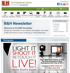 BH Photo Video Newsletter