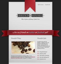 Brent Spore Newsletter
