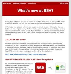 Buy Sell Ads Newsletter