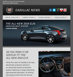 Cadillac Newsletter