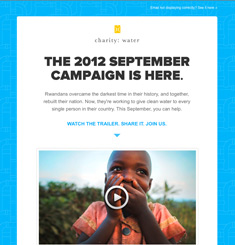 Charity Water Newsletter