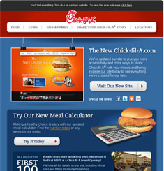 Chick Fil A Newsletter