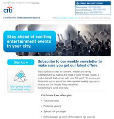Citi Card Newsletter