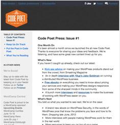 Code Poet Newsletter