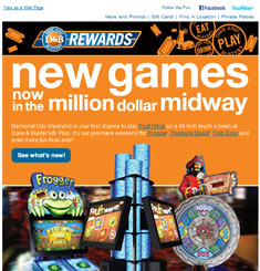 Dave & Busters Newsletter