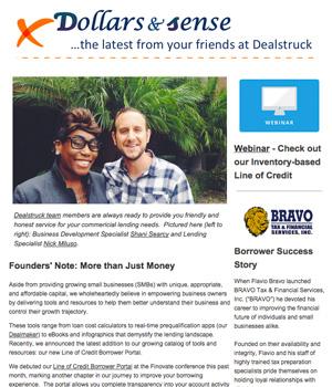 Deals Truck Newsletter