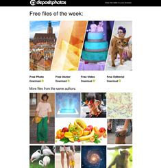 Depositphotos Newsletter