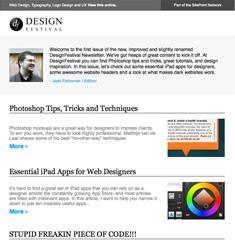 Design Festival Newsletter