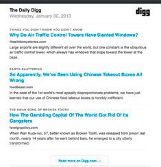 Digg Newsletter