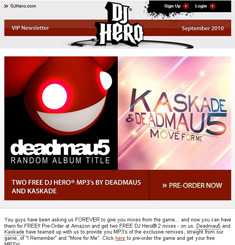 DJ Hero Newsletter