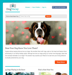 Dog Vacay Newsletter