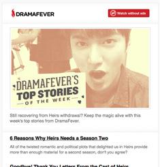 Drama Fever Newsletter