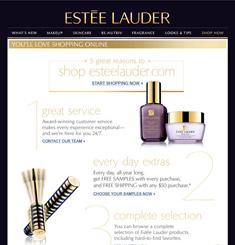 Estee Lauder Newsletter