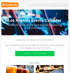 Event Brite Newsletter