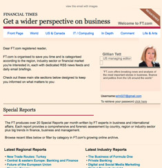 Financial Times Newsletter