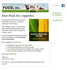 Food Inc Newsletter