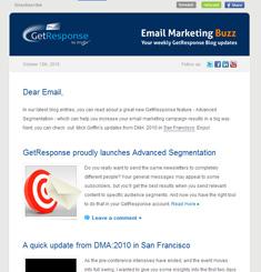 Get Response Newsletter