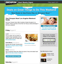 Groupon Newsletter – Email Gallery