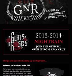 Guns n Roses Newsletter