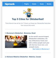 Hipmunk Newsletter