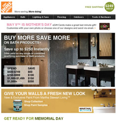 Home Depot Newsletter – Email Gallery
