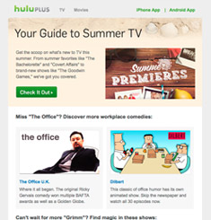 Hulu Newsletter