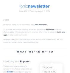 Ionic Newsletter – Email Gallery