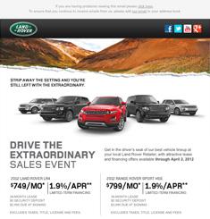 Land Rover Newsletter