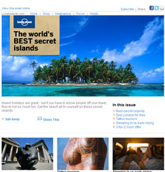 Lonely Planet Newsletter