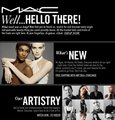 MAC Cosmetics Newsletter