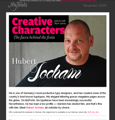 My Fonts Newsletter