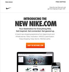 Sueño gritar gusano  Nike Newsletter – Email Gallery