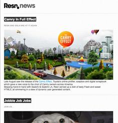 Resn Newsletter