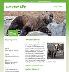 San Diego Zoo Newsletter
