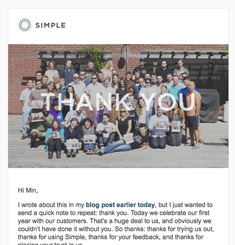 Simple Newsletter