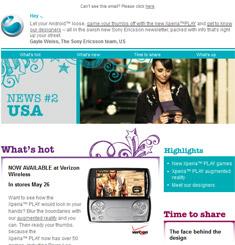 Sony Mobile Newsletter
