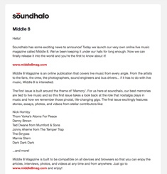 Sound Halo Newsletter