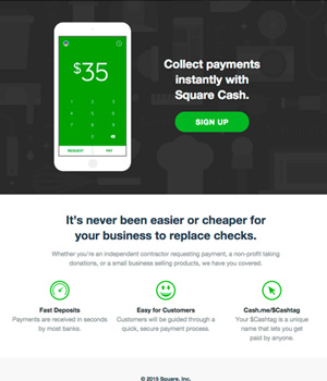Square Cash Newsletter