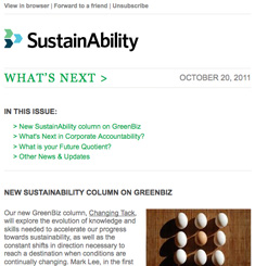 Sustain Ability Newsletter