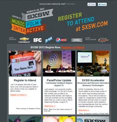 SXSW Newsletter