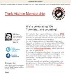 Think Vitamin Newsletter