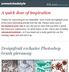 Unmatched Style Newsletter