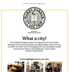 Warby Parker Class Trip Newsletter