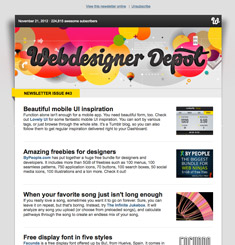 Web Designer Depot Newsletter
