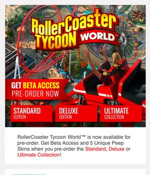 Roller Coaster Tycoon Newsletter