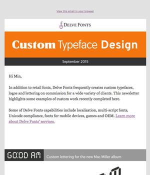 Delve Fonts Newsletter