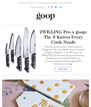 Goop Newsletter