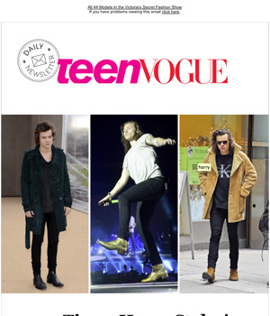 Teen Vogue Newsletter